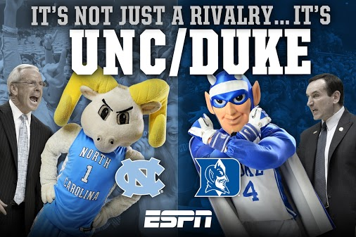 My thoughts on Duke and UNC as I watch Duke and UNC!